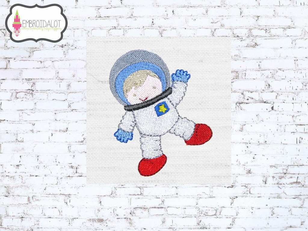 Astronaut machine embroidery design space explorer ready to for Space embroidery designs
