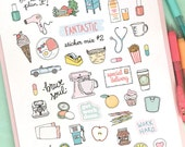 Printable FANTASTIC Sticker MIX #2 - Digital File Instant Download- reminders, life, planner girl, bando, happy planner, hand drawn