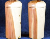 Wooden Salt and Pepper Shaker Set - Eastern Red Cedar