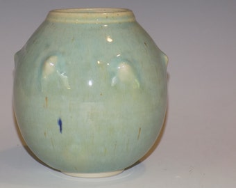 Ceramic Vase, Green Pottery Vase, Home and Living, Flower Vases, Celadon, Art Vase, Pottery Handmade