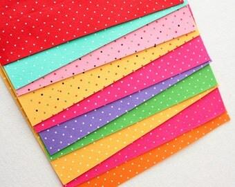 Polka Dot Felt - Brights 10 Sheets 9x12