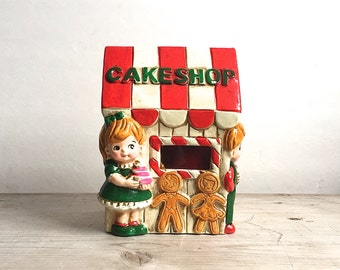 RB Japan Cake Shop Candy Village Lighted House Paper Mache-No Light