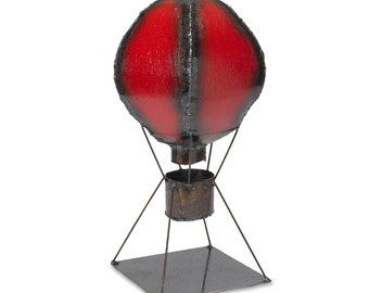 Hot Air Balloon Metal Sculpture