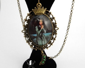 Princess necklace Fairytale Princess And The Pea vintage inspired hand crafted necklace fairy tale jewellery