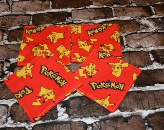 Pikachu Red Coasters Set of 4