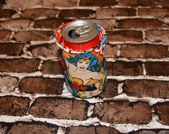 Wonder Woman  Can/Bottle Cozy/Home Decor/ Housewarming Gift/ Kitchen Decor/ Hostess Gift/ Wedding Gift/ Gift for her/ Fun gift/ Christmas