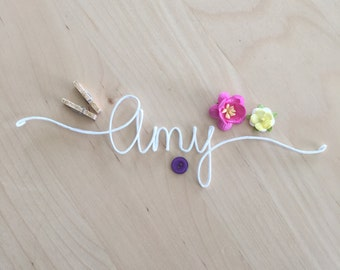 Personalized Paper Covered Wire Names and Words, Personalized Scrapbook Embellishments, Rustic Wire Words, Scrapbooking Wire words
