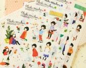 Pony Brown HEEDA STICKER Ver02 girl scrapbooking stickers