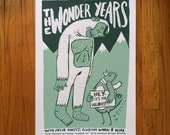 The Wonder Years Screenprinted Tour Poster
