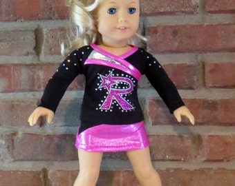 "DELUXE Custom Cheerleader Skort Set for 18"" doll such as the American favorite"