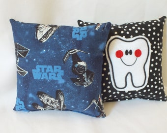 Tooth Fairy Pillow, Star Wars Pillow, Tooth Pillow Pocket, Child Pillow, Boy Pillow, Tooth Pillow, Boy Gift