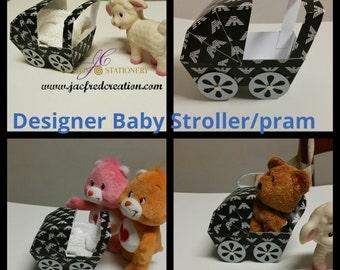 Baby Stroller centerpiece Designer inspired