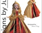 "PDF Princess Gown Pattern for 16"" Ellowyne Dolls Tonner"