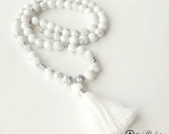 Boho Tassel Necklace - White - Tassel Necklace - Charming