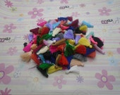 100pcs 30mm mix color Silk/Satin Tassels charms pendant, Ideal Accessories for DIY projects
