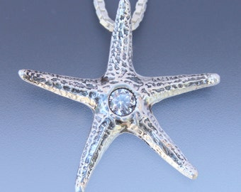 Starfish Pendant - Ocean Jewelry - Sea Star Jewelry - Sea Shell Jewelry - Sea Star Necklace - Marine Jewelry - Star Fish Jewelry