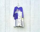 Mardi Gras New Orleans NOLA dress tunic upcycled clothing Patchwork Dress Eco Dress / Artsy Dress by CreoleSha