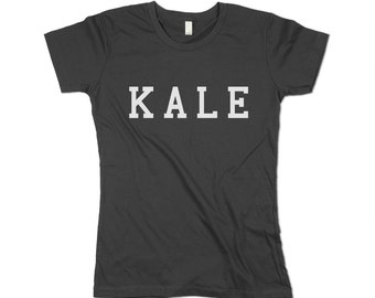 Kale Tshirt - Organic Cotton - Womens - Heath Food Shirt - Healthy - Natural - Made in USA - XS, Small, Medium, Large, XL, 2X, 3XL