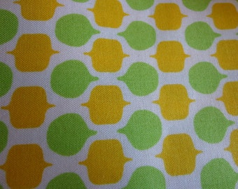"""Red Rooster Fabric """"Summer Home"""" #24051 One yard plus 3 inches in Greens and Yellows, One Yard"""