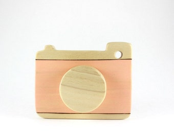 camera wooden toy, pretend camera, wooden toddler toys, waldorf toys, natural toys