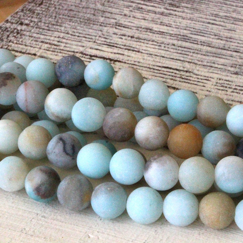 8mm matte amazonite gemstone mala bead supplies 8mm