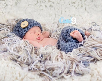 Baby Boy Clothes, Baby boy coming home outfit, Newborn photo prop,Baby boy photo prop,Crochet baby set,Baby boy knit pant set,Newborn outfit