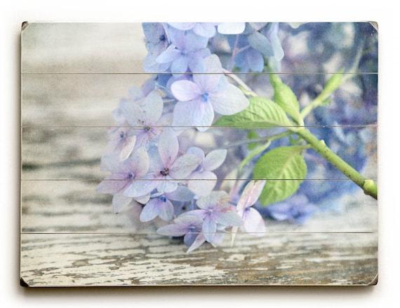 Hydrangea Wall Art wood plank art blue hydrangea wall art hydrangea
