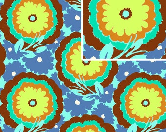 Amy Butler Soul Blossoms Cyan Buttercups End of Bolt 21""