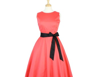 ON SALE!!!Coral Classic Full Circle Dress With Belt