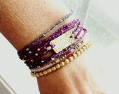 Julia Dream Multi Strand Bohemian Wrap Bracelet with Ombre Hand Dyed Thread