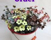 Custom Order Forever Blooming Flowers
