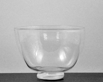 Blown Glass Bowl - Clear