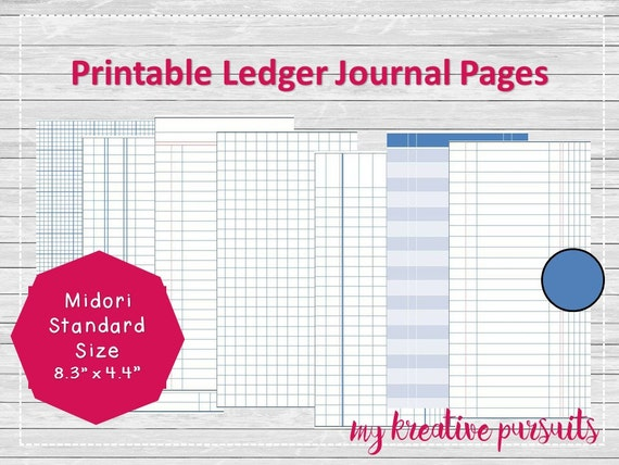 bullet journal printable pages ledger papers by