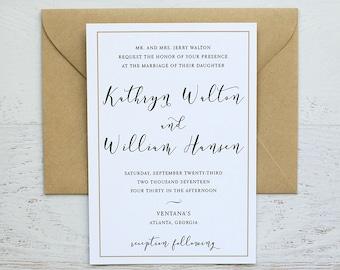 Kate Custom Wedding Invitation