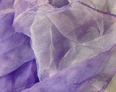 "Purple shade  Extra large  Silk Gauze  Scarf 40""X70""(Perfect  for Nuno Felting)"