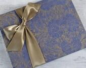 Wedding Guest Book, Destination Wedding Photo Book, Island Print in Denim Blue, MEDIUM 9x7 {READY to SHIP}