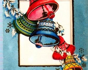 Vintage Christmas Cards Pretty Ringing Bells Christmas Bells Church Bells