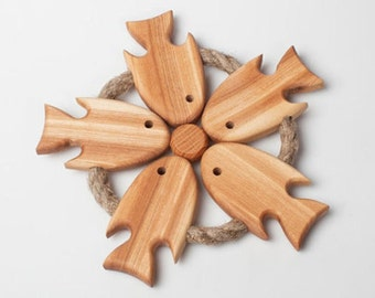 Handmade Oak-Ash Wood Tray of hot pots, cups (11 inches )