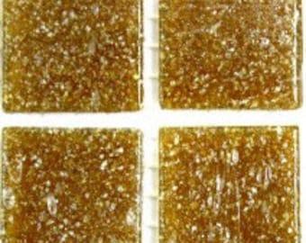 "A34 Medium Brown 3/4"" Vitreous Glass Tile- 25 pk"