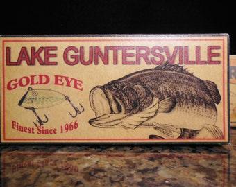 Lake Guntersville Alabama lake house fishing lure boxes cabin decor