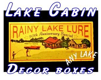 Lake cabin decorations