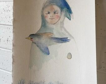 RESERVED for Amanda : Original Illustration 1  'Departure'