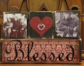 Special Order for Michelle - Blessed Sign, Photo Blocks Sign, Blessed Photo Blocks, Customized Family Sign,
