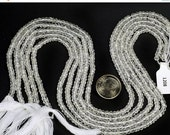 ON SALE White Topaz Rondelles Faceted Beads Bridal Earth Mined Gemstone - 3.5 to 4mm Rondelles - 6.5  Inch Strand