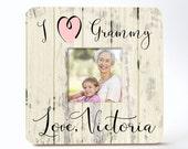 I Love Grandma Grandpa Aunt Uncle Personalized Picture Frame