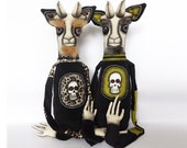 Horror Doll Scary Monster Goat Creature Horror Toy Demon Goth Doll Voodoo Doll