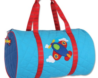 Monogrammed Stephen Joseph Quilted Duffle, toddler duffle