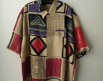 Vintage Italian Abstract Shirt
