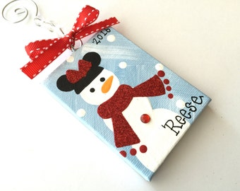 Handpainted and Personalized Mini or Mickey Mouse Ornament
