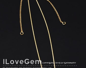 NP-1793 Gold plated, Ear Threader, Chain Earrings with 70mm stick, 4pcs